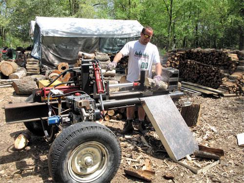 Самодельный дровокол - техника и инструменты для дачи, огорода - огород