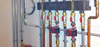 Водяное отопление загородного дома, монтаж системы водяного отопления загородного дома, схема отопления загородного дома